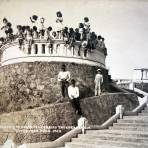 Escalinata y mirador del cerrito Independencia alla por 1930-1950