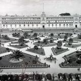 El Palacio Nacional  ( 1930-1950 ) - Ciudad de México, Distrito Federal