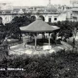 La plaza de Armas ( 1900-1920 ) - Veracruz, Veracruz