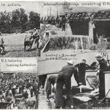 Ejécito estadounidense preparándose para invadir México (circa 1914)