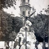 Plaza e Iglesia Lugar Desconocido  ( 1930-1950 ) - Chilpancingo, Guerrero