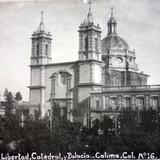 Plaza la Libertad Iglesia y Palacio ( 1930-1940 ) - Colima, Colima