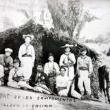 Humilde Hospital en los Campamentos del Volcan de Colima  ( 1910-1920 ) - Colima, Colima