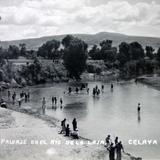Paisaje en el Rio de la Laja ( 1920-1940 ) - Celaya, Guanajuato