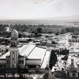 Panorama lado Sur de la Poblacion  ( 1920-1940 ) - Celaya, Guanajuato