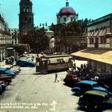 Vista a La Estacion e Iglesia de San Francisco ( 1930-1950 )