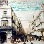 Calle de San Francisco Hoy calle de Madero vista desde el Zocalo ( 1900-1920  )