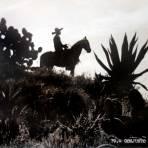 TIPOS MEXICANOS Un Charro en Silueta Conjunto Mexicano ( 1930-1950 )