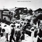 Estacion Ferroviaria de Munoz Puebla. ( 1930- 1950 ) - Ferrocarriles, Medios de Transporte