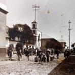 REAL DEL MONTE Escena Callejera Aguadorers ( 1930-1950 ) - Mineral del Monte, Hidalgo