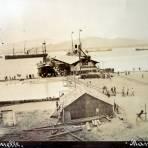 El Muelle ( Fechada el dia 3 de Octubre  de 1910  ) - Manzanillo, Colima