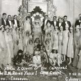 Reyna de el Carnaval Ysela Primera y su corte ( 1930-1950 )