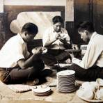 TIPOS MEXICANOS decorando loza ( 1930-1950 )