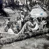 TIPOS MEXICANOS Xochimilco Musicos promoviendo la Cerveza ( 1930-1950 )