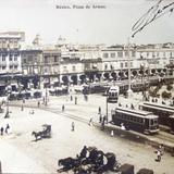 La Plaza de Armas  Fechada el dia 9 de Diciembre de 1908 - Ciudad de México, Distrito Federal
