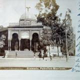 La Alameda y el Pabellon Morisco  ( Fechada 8 de Agosto de  1902 )