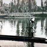 Los Canales de Xochimilco Mexico D F por el fotografo Hugo Brehme