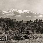 El Iztaccíhuatl, visto desde Amecameca