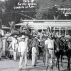 Combate de Flores celebrando la Independencia de Mexico ( 16 de Sep. de 1919 )