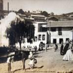 Escena callejera de El Oro estado de Mexico.