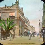 Casa de Los Azulejos Calle de San Francisco o Plateros ( Hoy calle Madero )  de la Cd. de Mexico  . - Ciudad de México, Distrito Federal