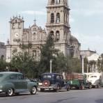 Catedral y Plaza Zaragoza (circa 1952) - Monterrey, Nuevo León