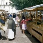 Mercado en San Cristóbal de las Casas y Antiguo Convento al fondo (1954)