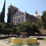 Atrio y parroquia de San Francisco (siglo XVII). Febrero/2017 - Tepeyanco, Tlaxcala