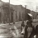 Calle Benito Juarez Garcia fotografia de los años 1920´s - Salamanca, Guanajuato