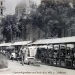 Puestos de gorditas en el Atrio de la Villa de Guadalupe.