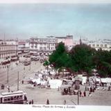 Plaza de armas y Zocalo ( Fechada el dia 6 de Mayode 1911 ).