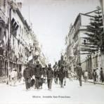 Avenida San Francisco Desfile con motivo de el centenario de la Independencia de Mexico ( 16 de Sep-1910 ).