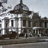 Palacio de Bellas Artes en construccion.