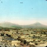 Volcan Popocatepetl e Ixtaccihuatl.