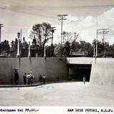 Paso subterraneo del Ferrocarril Mexicano ( Fechada el 8 de Agosto de 1954 ).