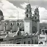 La Parroquia de Tehuacan Puebla vista desde los altos de el Palacio Municipal.