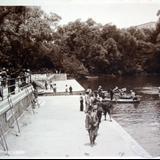 El lago de Chapultepec ( Cilculada en Marzo de 1923 ).