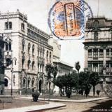Esquina de las calles Tacuba y Condesa ( Circulada el 4 de Julio de 1934 ).