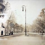 Entrada a  Chapultepec de la Cd. de Mexico ( Circulada el 1 de Agosto de 1929 ).