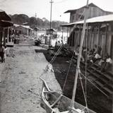 Escena en las playas de Miramar despues de  algun Huracan fechada el 26 de Agosto de 1934.