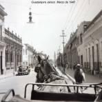 Escena Callejera  Guadalajara Jalisco  Marzo de 1946 .