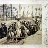 Los canales de Xochimilco ( Circulada el 25 de Febrero de 1906 ).