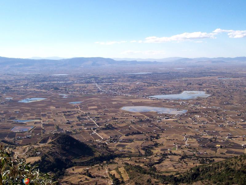 Vista aérea del municipio de Jiquipilco