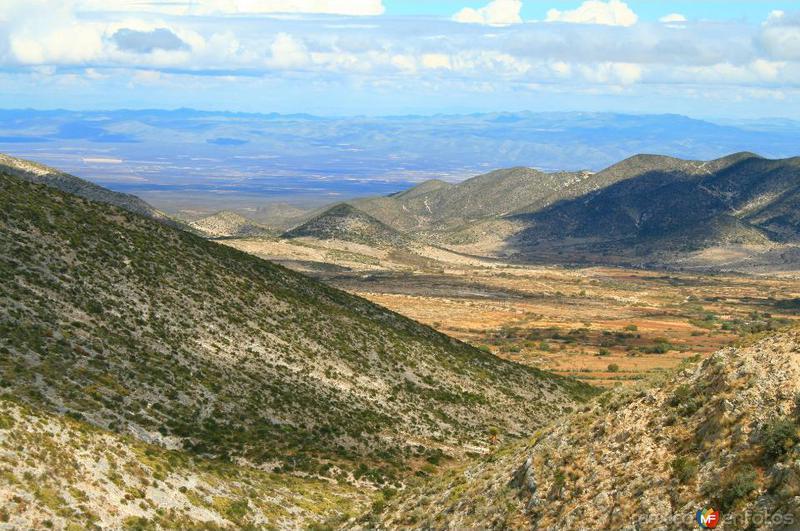 Vista de la Sierra de Catorce, desde el Mirador