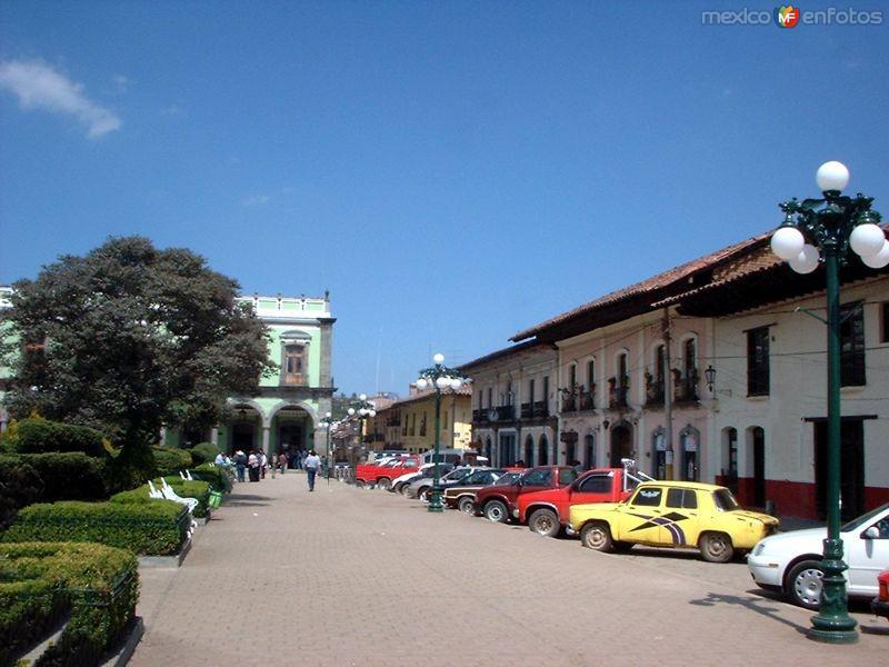 Plaza central de Zacatlán