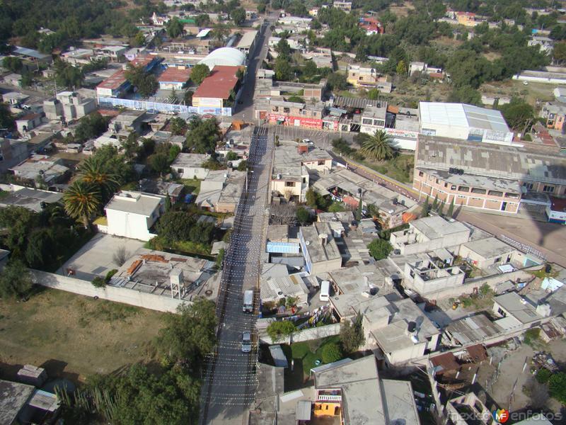 Vista aérea de Teotihuacán