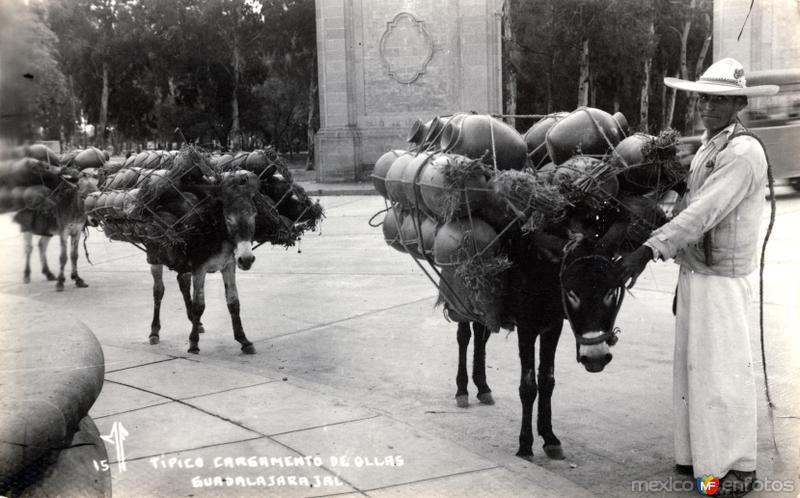 Típico cargamento de ollas
