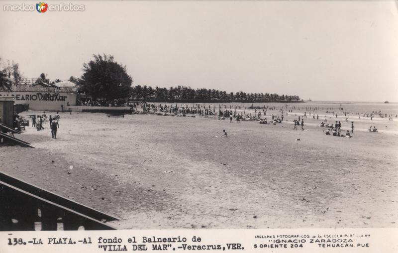 La Playa. Al fondo el Balneario de Villa del Mar