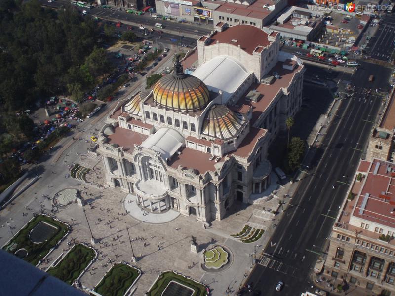 Vista aerea de Bellas Artes
