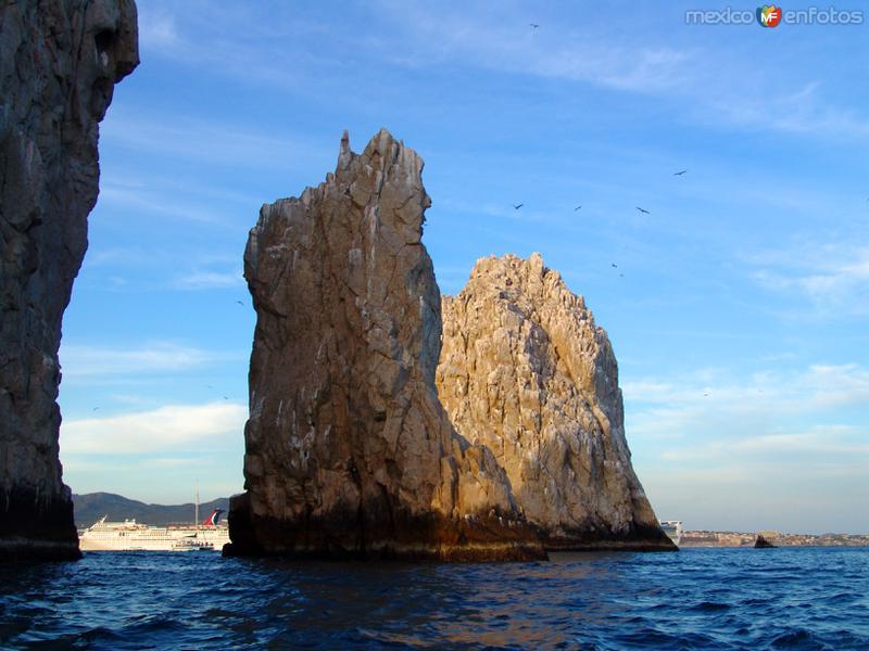 Rocas marinas al final de la Península
